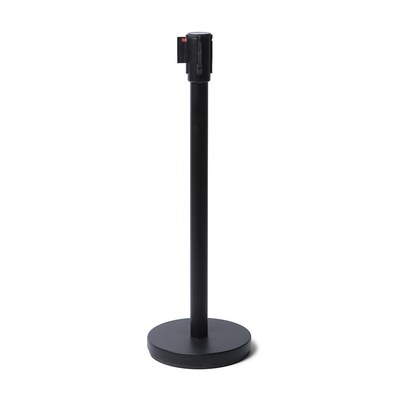 Absperrständer mit selbstspannendem Gurtsystem Ständer und Absperrband in schwarz Gurtlänge: 2,5 Meter - Gesamthöhe: 1,05 Meter - Absperrständer-in schwarz