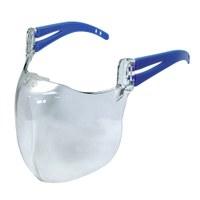 AllegraMask - Transparenter Mund- und Nasenschutz mit Anti-Beschlag-Beschichtung inkl. praktischem Brillenband - Allegra Maske blau