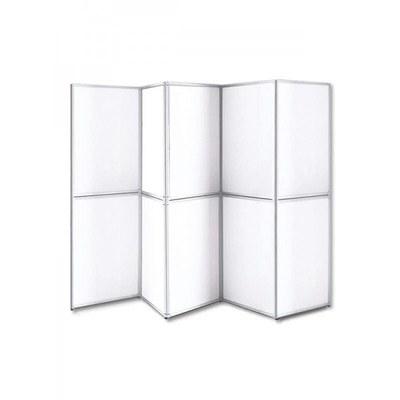 ALLEGRO Faltdisplay inkl. 10x Leichtschaumpaneele 700x1.000x5 mm Rahmen-Faltdisplay 10-teilig - ALLEGRO-Faltdisplay-10-tlg-mit-Paneelen