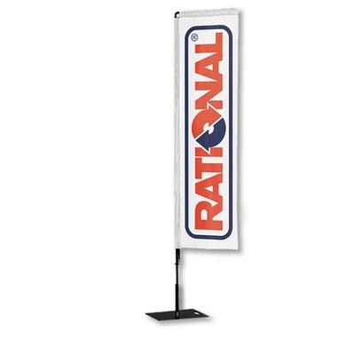 Beachflag - SQUARE - Größe XL inkl. Tragetasche&Bodenplatte 400x400x5 mm inkl. Fahne in Rechteckform - Beachflag-Square-3750-Bodenplatte