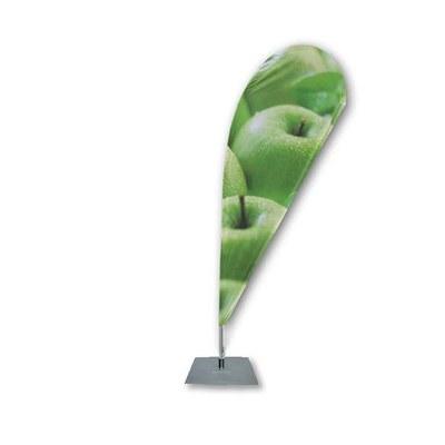 Beachflag - TROPFEN - Größe L inkl. Tragetasche&Bodenplatte 400x400x4 mm Größe L (Höhe 3,35 mtr) - Beachflag-Tropfen-3350-Bodenplatte-Rotator