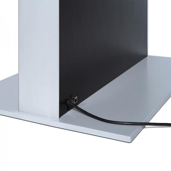 Digitale Infostele einseitig 50 Zoll schwarz 4K Bodenplatte.jpg