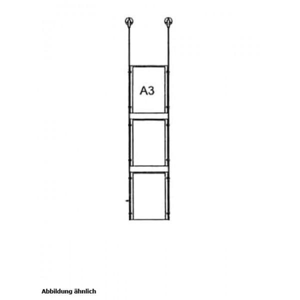 da-d-3xa3 - drahtseilsystem 3x din a3 hochformat decke