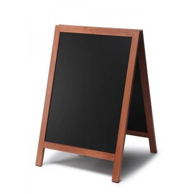 Holz-Aufsteller (geschlossener Rahmen) Format: 55x85cm - Profil: eckig Farbe des Holzrahmens: hellbraun - Holz-Aufsteller-hellbraun
