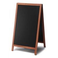 Holz-Aufsteller (geschlossener Rahmen) Format: 68x120cm - Profil: eckig Farbe des Holzrahmens: hellbraun - Holz-Aufsteller-hellbraun-lang