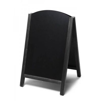 Holz-Aufsteller (oben offener Rahmen) Format: 55x85cm - Profil: eckig Farbe des Holzrahmens: schwarz - Holz-Aufsteller-Fast-Switch-schwarz