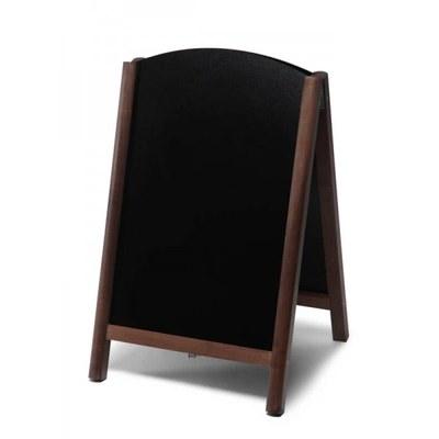 Holz-Aufsteller (oben offener Rahmen) Format: 55x85cm - Profil: rund Farbe des Holzrahmens: dunkelbraun - Holz-Aufsteller-Fast-Switch-dunkelbraun