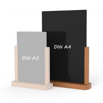 Holz-Tischaufsteller Farbe des Holzrahmens: hellbraun DIN A4 (210x297 mm) - Holz-Tischaufsteller-DINA4-hellbraun