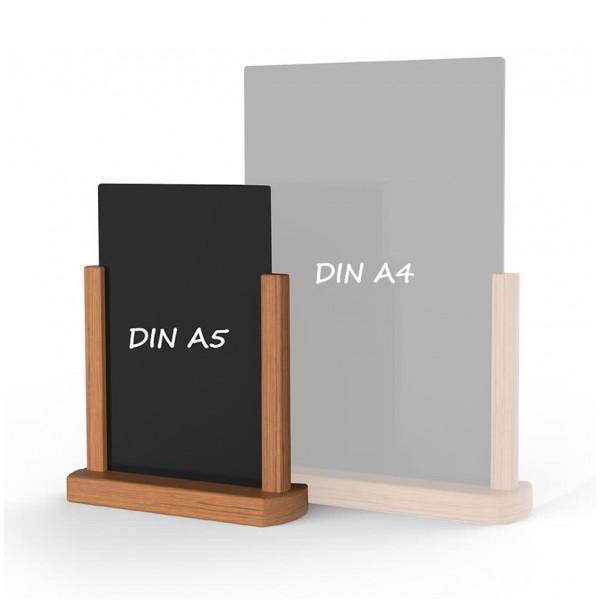 Holz-Tischaufsteller-DINA5-hellbraun