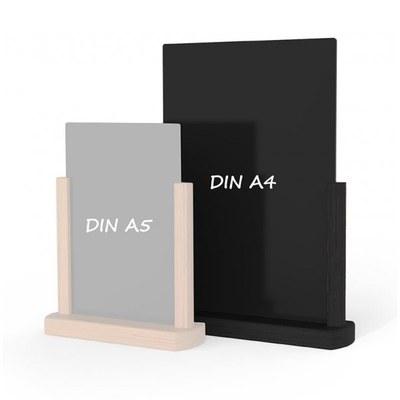 Holz-Tischaufsteller Farbe des Holzrahmens: schwarz DIN A4 (210x297 mm) - Holz-Tischaufsteller-DINA4-schwarz