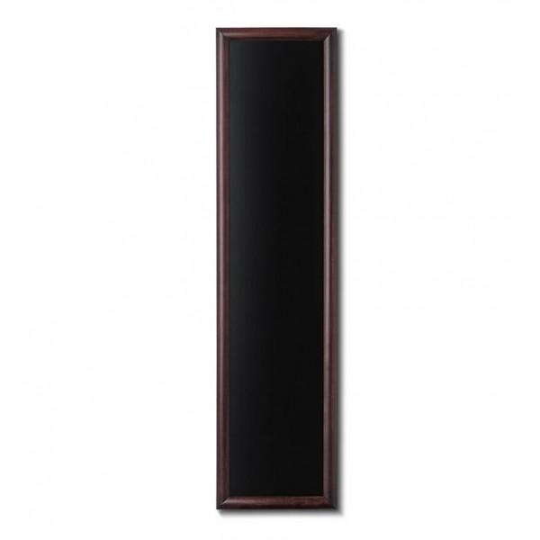 Holz-Wand-Kreidetafel-rundes-Profil-350x1500-dunkelbraun