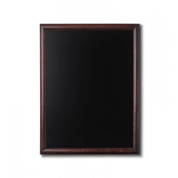 Holz-Wand-Kreidetafel-rundes-Profil-600x800-dunkelbraun