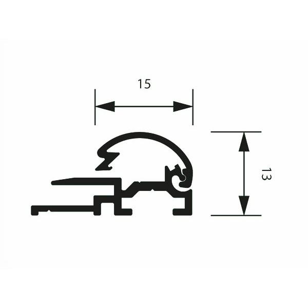 klapprahmen 15erprofil detail zeichnung