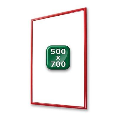 Klapprahmen Standard Einlegeformat: 500x700 mm 500x700 mm - klapprahmen-25er-profil-gehrung-rot-500x700