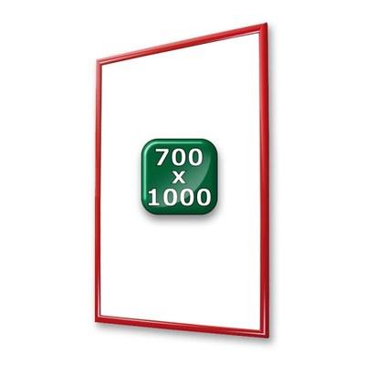 Klapprahmen Standard Einlegeformat: 700x1.000 mm 700x1000 mm - klapprahmen-25er-profil-gehrung-rot-700x1000