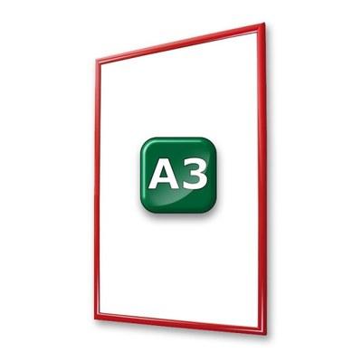 Klapprahmen Standard Einlegeformat: DIN A3 (297x420 mm) DIN A3 (297x420 mm) - klapprahmen-25er-profil-gehrung-rot-a3