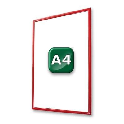 Klapprahmen Standard Einlegeformat: DIN A4 (210x297 mm) DIN A4 (210x297 mm) - klapprahmen-25er-profil-gehrung-rot-a4