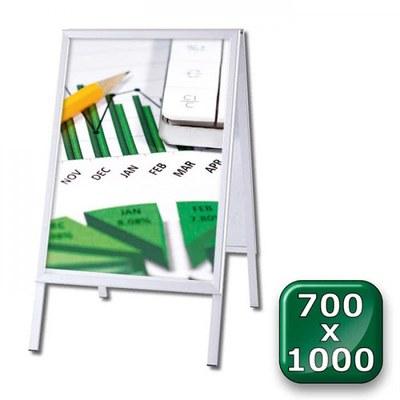 Kundenstopper OUTDOOR Einlegeformat: 700x1.000 mm 700x1000 mm - Kundenstopper-Outdoor-700x1000-Gehrung