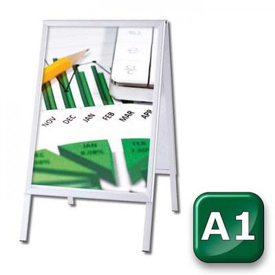 Kundenstopper OUTDOOR Einlegeformat: DIN A1 (594x841 mm) DIN A1 (594x841 mm) - kundenstopper-outdoor-din-a1-gehrung