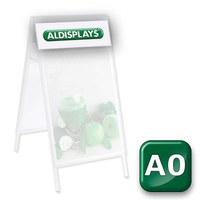Beidseitiger Digitaldruck Topperblende DIN A0 = Sichtmass 897 x 293 mm nach von Ihnen gestellten Druckvorlagen - Kundenstopper-Premium-DIN-A0-Top-Druck