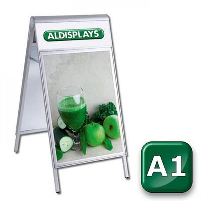 Kundenstopper PREMIUM Topper Einlegeformat: DIN A1 (594x841 mm) DIN A1 (594x841 mm) - kundenstopper-premium-din-a1-top-bedruckt