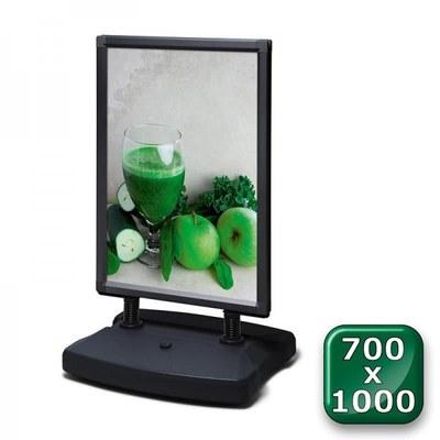 Kundenstopper Swing-Master ECO Einlegeformat: 700x1.000 mm 700x1000 mm - swing master eco v20017 schwarz 700x1000