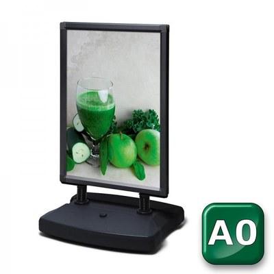 Kundenstopper Swing-Master ECO Einlegeformat: DIN A0 (841x1.189 mm) DIN A0 (841x1189 mm) - swing master eco v20017 schwarz a0