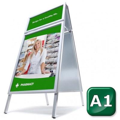 Kundenstopper TOPRAHMEN Einlegeformat: DIN A1 (594x841 mm) DIN A1 (594x841 mm) - kundenstopper toprahmen gehrung start 1 2