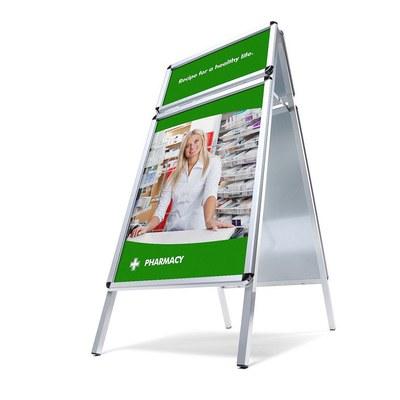 Kundenstopper TOPRAHMEN Einlegeformat: DIN A1 (594x841 mm) Einlegeformat Toprahmen: 594x297 mm - Kundenstopper  TOPRAHMEN Rondo