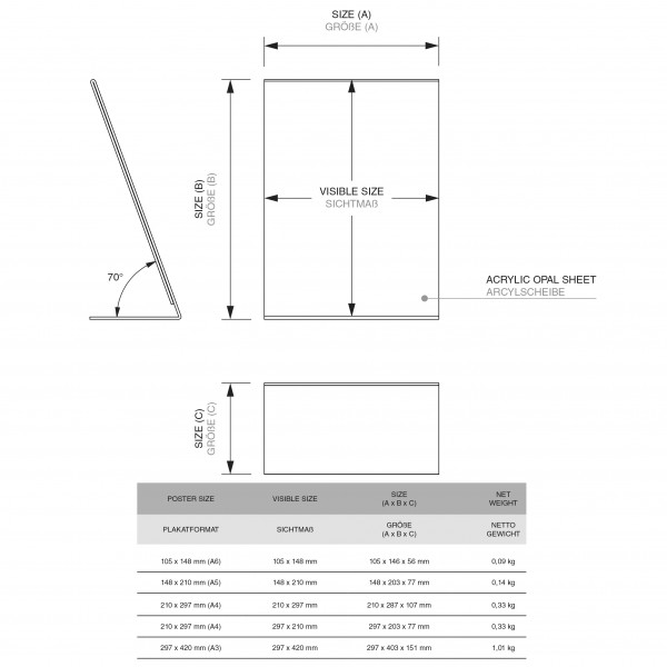 Dispenser-L-Aufsteller-DIN-A3-Hochformat-PLA-Zeichnung 1