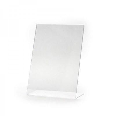L-Aufsteller - Hochformat Einlegeformat: DIN A5 (148x210 mm) Ausrichtung: Hochformat - Dispenser-L-Aufsteller-DIN-A5-Hochformat-PLA07H