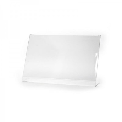 L-Aufsteller - Querformat Einlegeformat: DIN A6 (148x105 mm) Ausrichtung: Querformat - dispenser-l-aufsteller-din-a6-querformat-pla06q