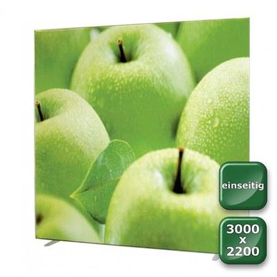 No-Frame Standdisplay Einseitig - Format: 3.000x2.200 mm Farbe: silber-eloxiert - mit einseitiger, - NOFrame-einseitig-3000x2200