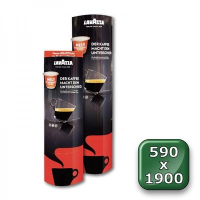 POS-Säule Pappe PREMIUM Format: 590 x 1.900 mm (faltbar) 590 x 1.900 mm - faltdisplay pappe premium 590x1900