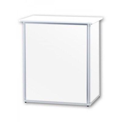Promotiontheke ALLEGRO®-Minitheke inkl. Deckelplatte (weiß) & Einlegeboden 3-teilige Aluminium-Rahmenreihe (silber-eloxiert) - Mini-Theke-ohne-Druck 2
