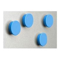 Magnetset  = 8 Magnete in blau Durchmesser d = 35mm - zubehoer magnete blau