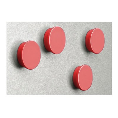 Magnetset  = 8 Magnete in rot Durchmesser d = 35mm - zubehoer magnete rot