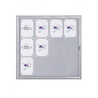 Schaukasten Flat BT23 Indoor/Outdoor 4x3 DIN A4 (Außenformat: 961x1.004mm) Gehäuse und Rahmen aus Aluminium - Schaukasten FLAT BT23 Indoor Outdoor 4x3