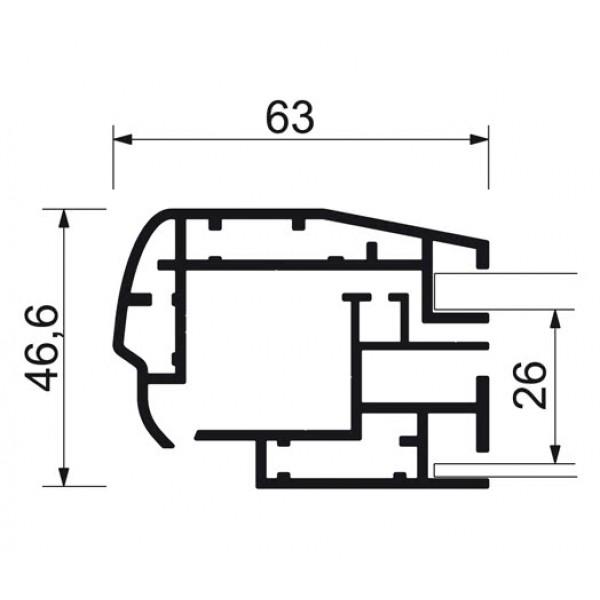 schaukasten premium led bt46 outdoor detail profilquerschnitt 6