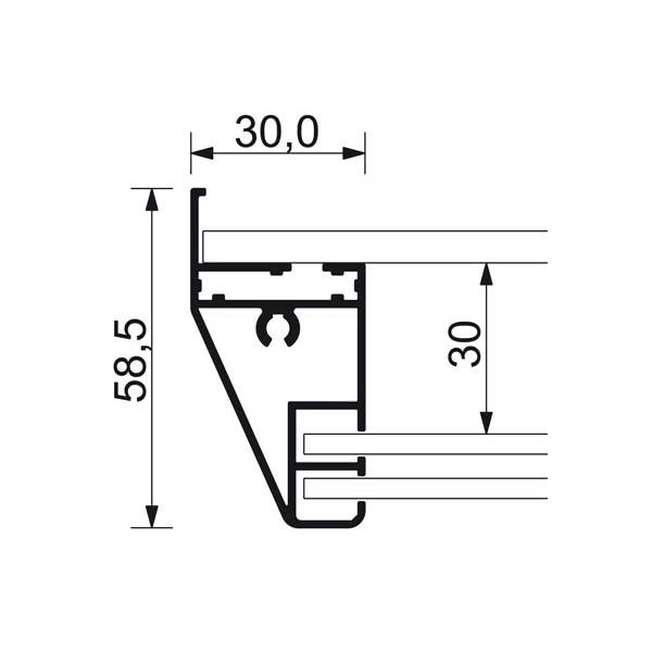 schaukasten schiebet r bt58 indoor detail profilquerschnitt 1