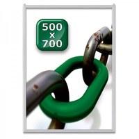 Slide-In Einschubrahmen Einlegeformat: 500x700 mm Profil: 24 mm - silber-eloxiert - klapprahmen-slide in 500x700