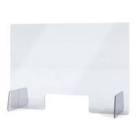 """Acrylschutzwand als Spuckschutz Aufsteller Grösse """"XL"""" Format 1.000x600x250 mm glasklares Acrylglas XT in 4mm Materialstärke - Spuckschutz Aufsteller XL"""