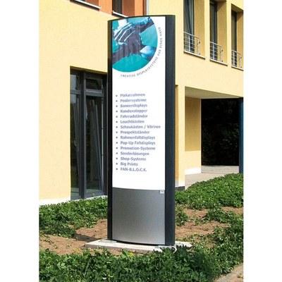 Werbepylone Ausseneinsatz Individuelle Bauform & Format Ausleuchtung: wahlweise LED oder Röhre - aussenwerbung-werbepylon-800x2500mm