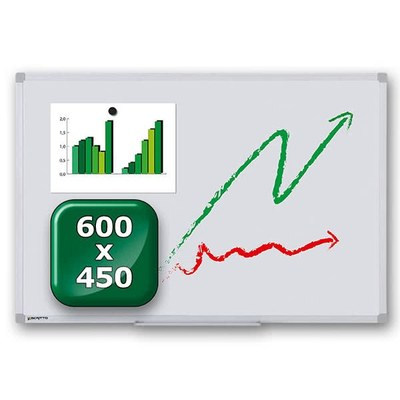Whiteboard ECO zur Wandmontage Außenformat: 600x450x15 mm (BxHxT) 600x450x15 mm - whiteboard-eco-600x450 2