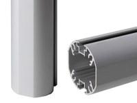 Zubehör Ständerwerk 2.500 mm Länge Aluminium-Rundrohr - d=66mm für Erdeinstand oder Fundamentmontage - Schaukaesten-Zubehoer-Standrohr